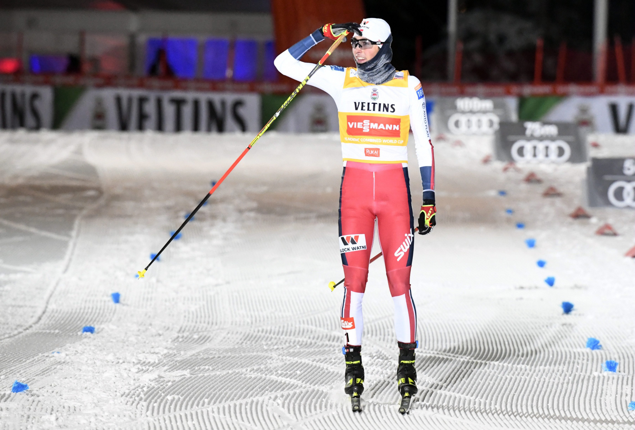 Riiber clinches back-to-back wins at Ruka Triple