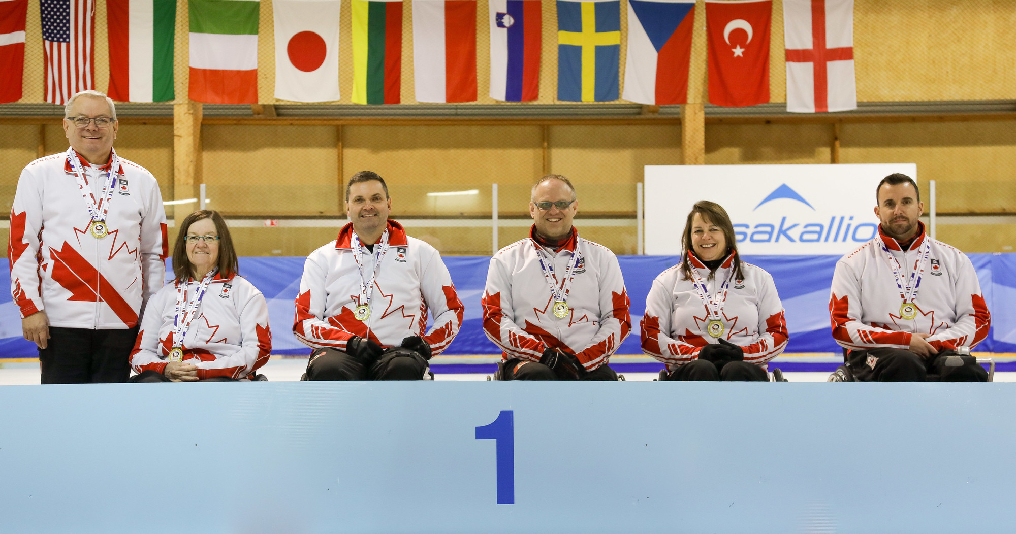 Canada won gold at the World Wheelchair-B Curling Championship in Finland ©WCF