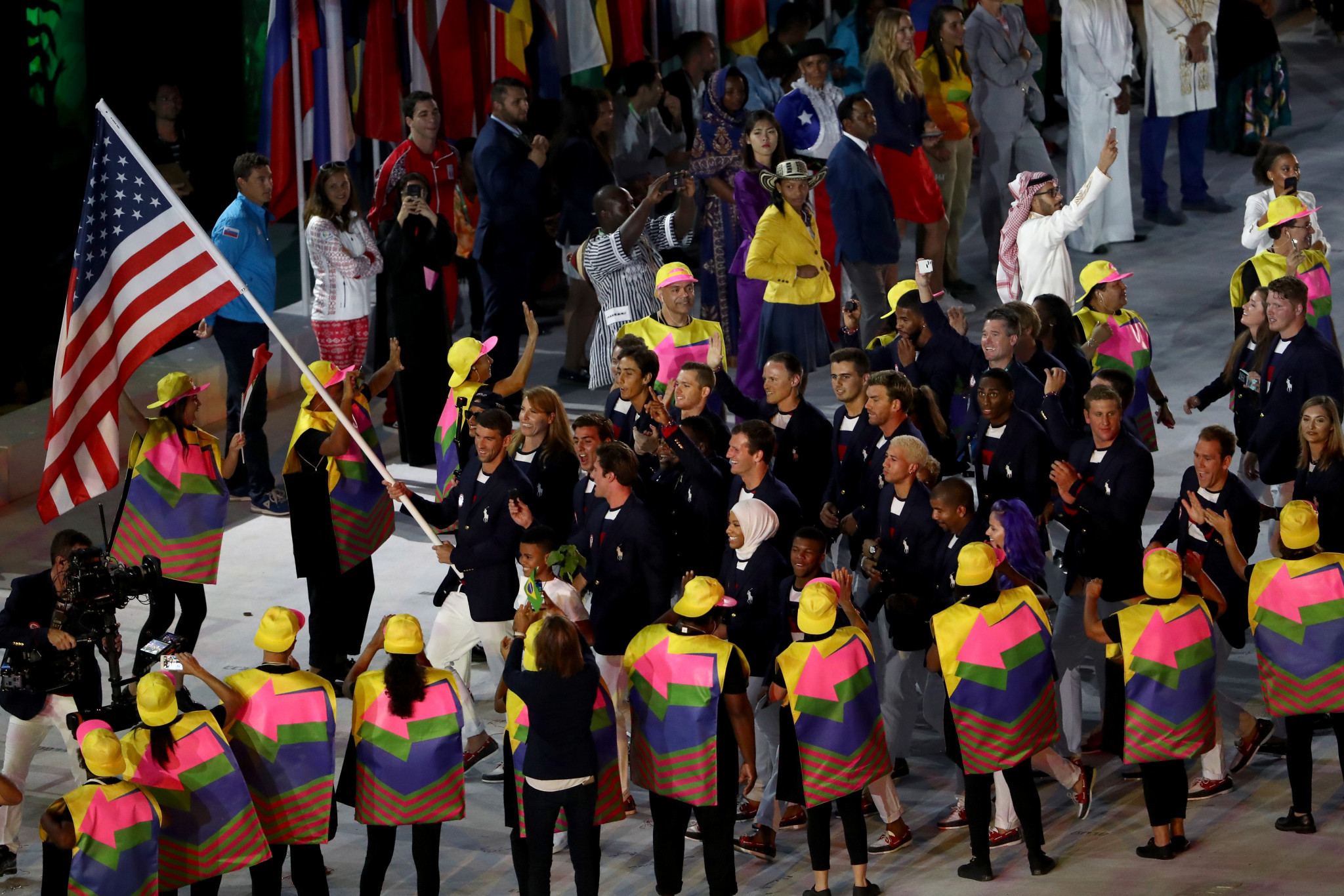 The United States have been given more prominence in the Tokyo 2020 parade ©Getty Images