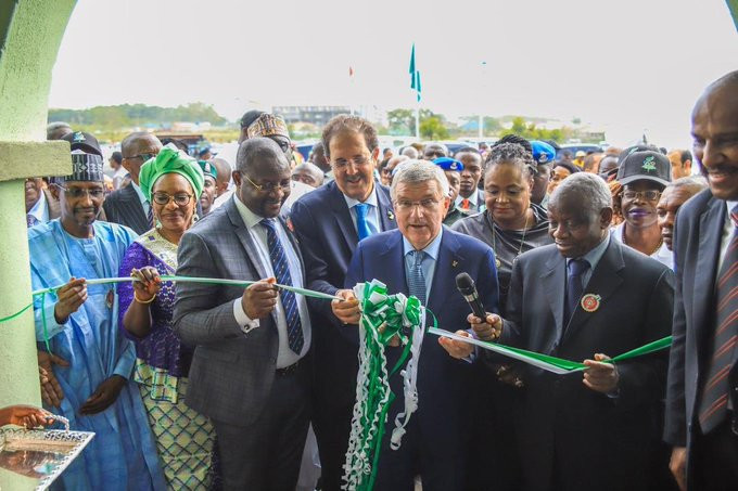 Thomas Bach opened the new ANOCA headquarters when in Abuja ©Twitter