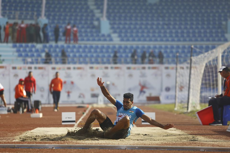 Suseendran completes sprint double as India shine again at South Asian Games