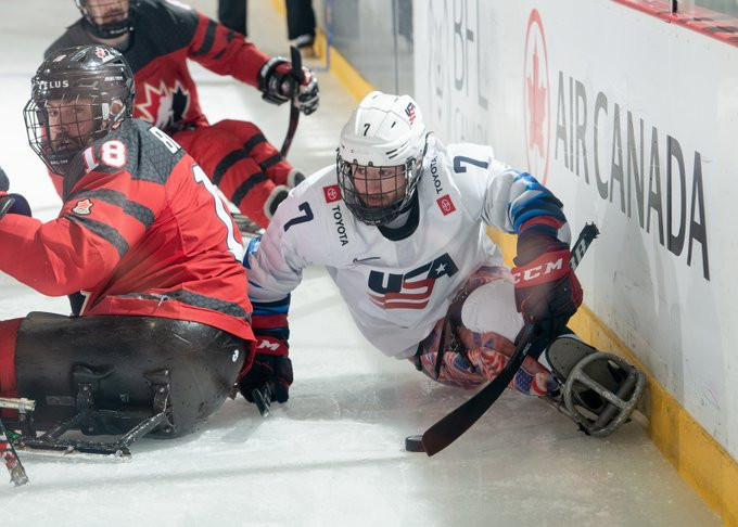 The United States were too strong for hosts Canada today at the Para Hockey Cup ©CT Para Hockey Cup/Twitter