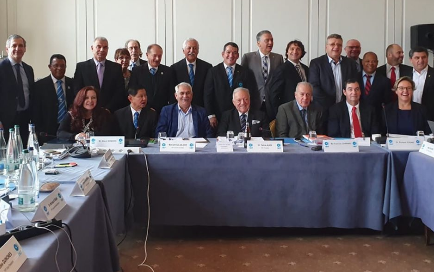 The IWF Executive Board presented a united front following a crucial meeting today in Lausanne ©IWF