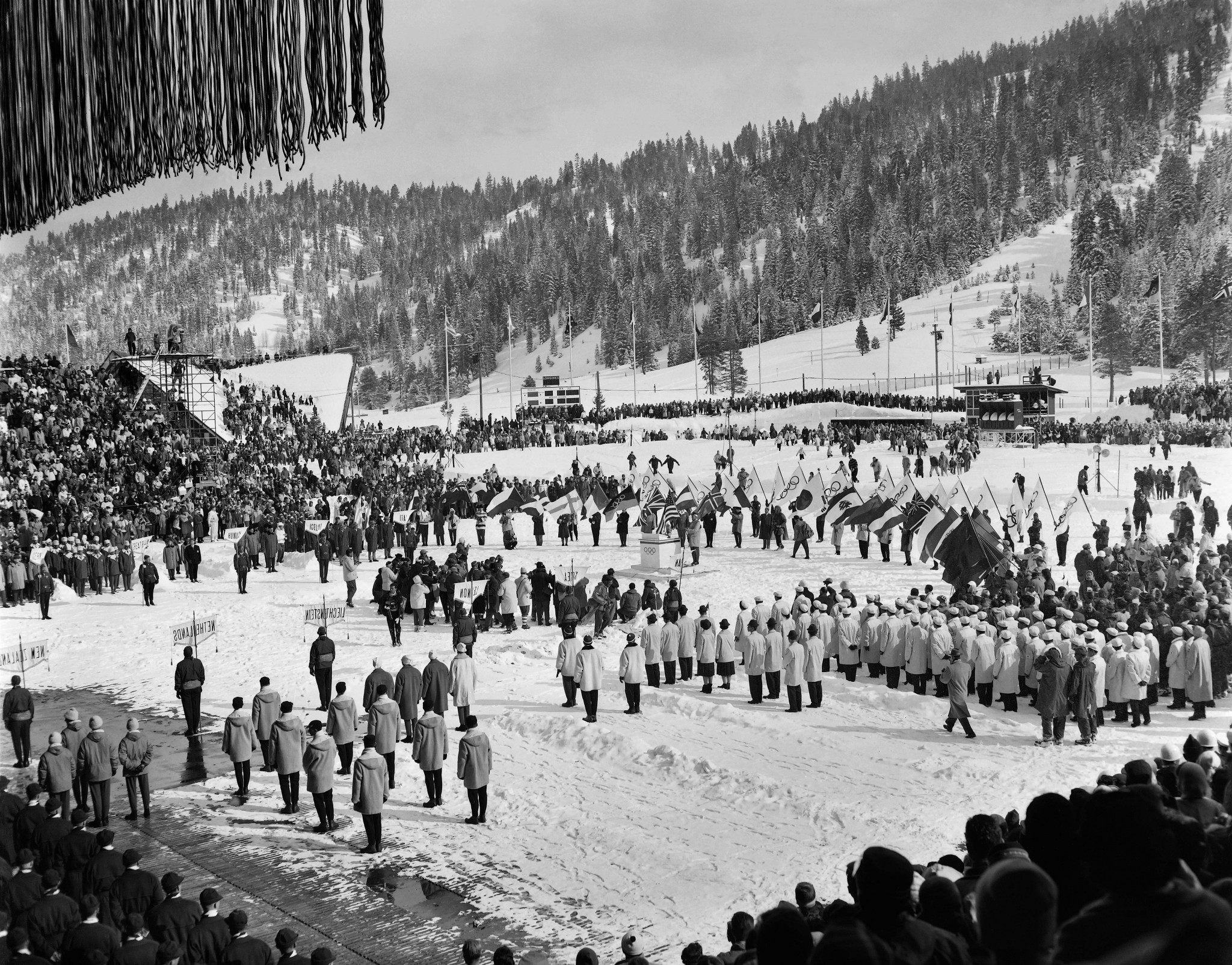 The Opening Ceremony in 1960 at Squaw Valley ©AFP via Getty Images