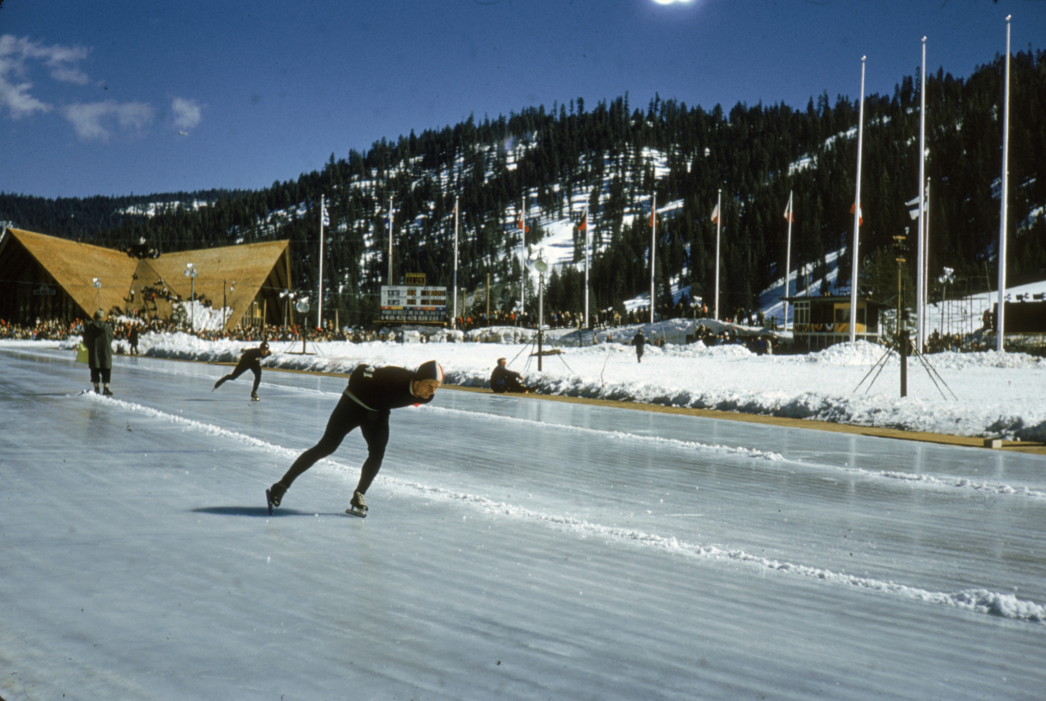 Speed skaters practice at the Games which had its fair share of drama, even before the sporting proceedings began ©Getty Images