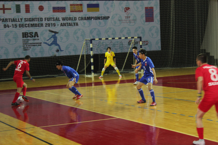 Turkey showed their skills in the opening match at the Antalya Arena Sports Hall © IBSA
