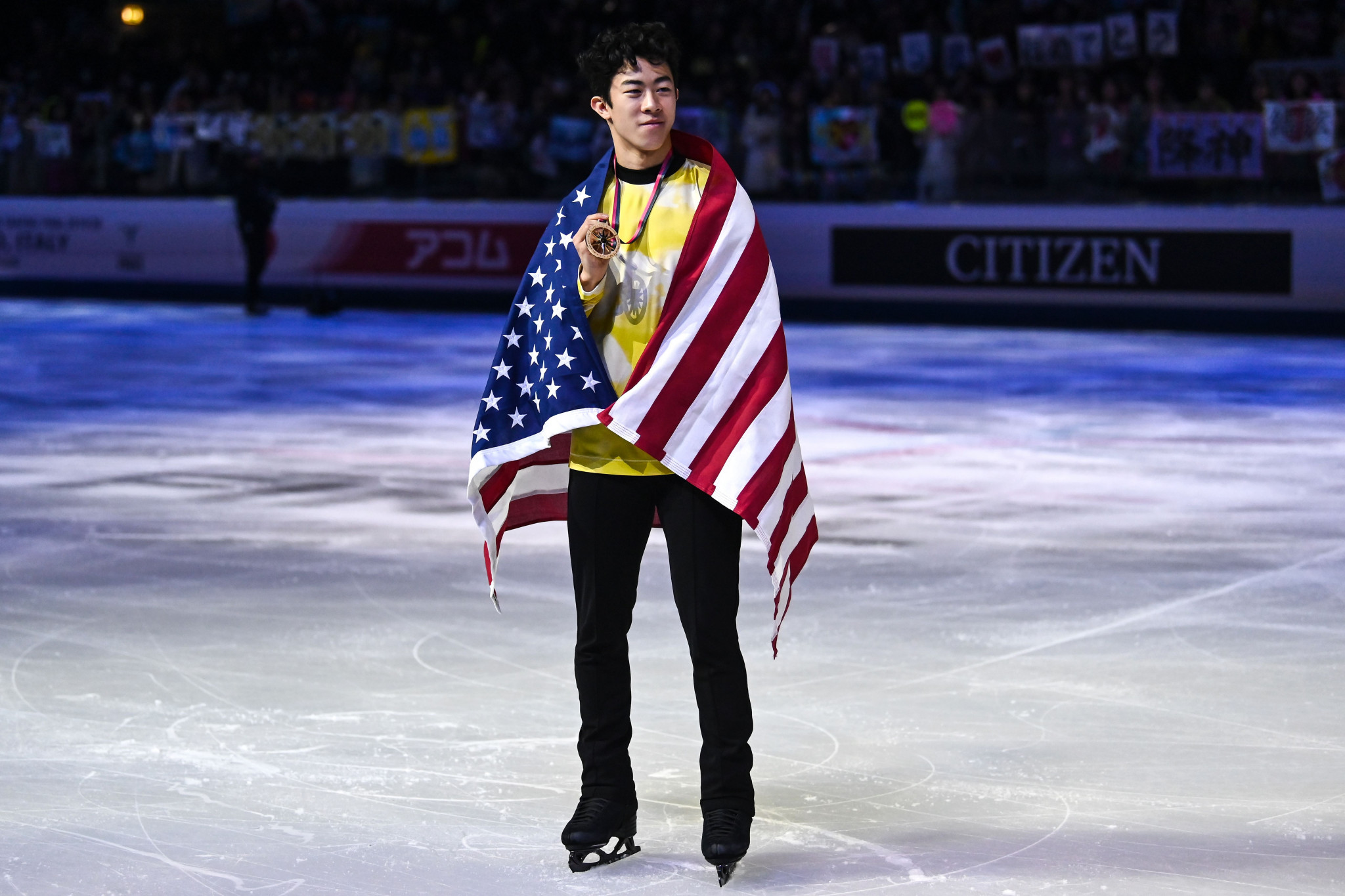 Nathan Chen from the United States set a world record to claim victory at the ISU  Grand Prix Final in Turin ©Getty Images