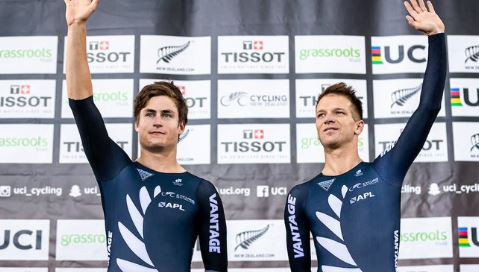 Victory in the men;s madison helped hosts New Zealand to a total of five golds at the UCI Track World Cup in Cambridge ©UCI Twitter