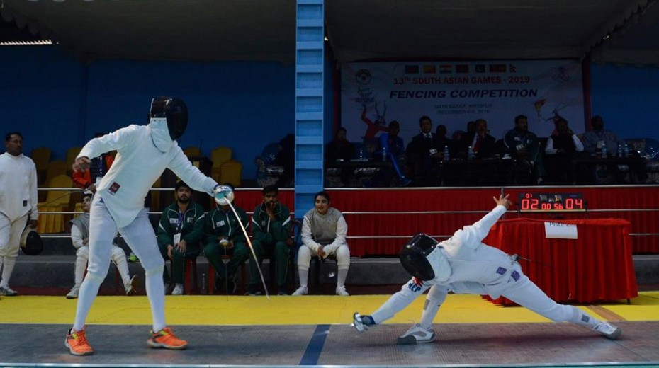 India dominate fencing team events at South Asian Games