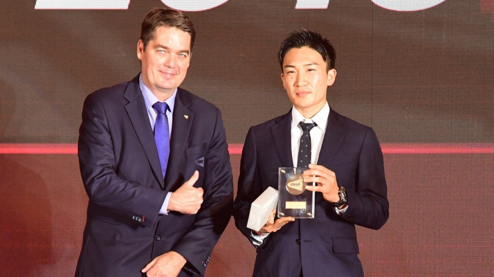 Momota and Huang win BWF Male and Female Player of the Year awards
