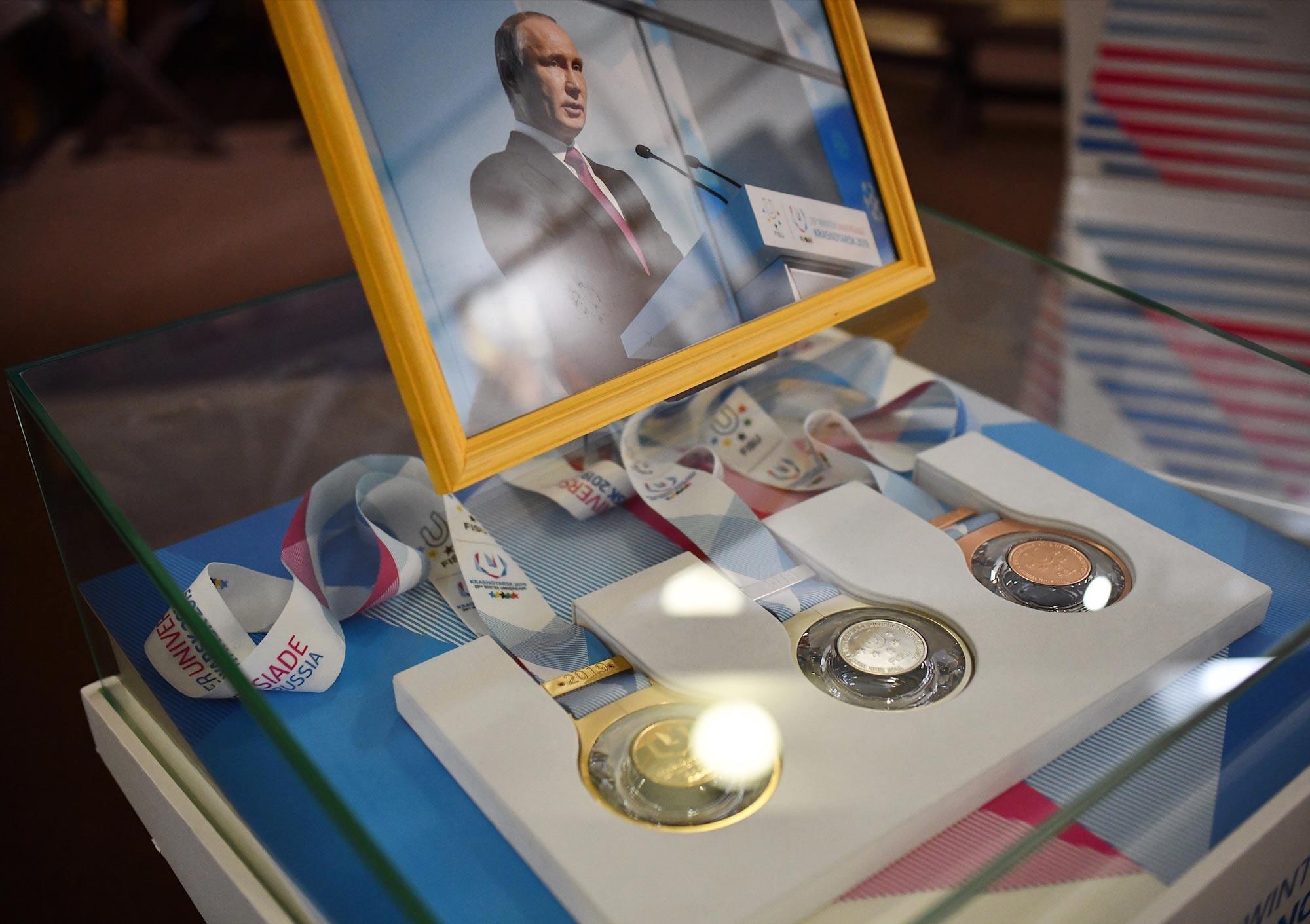 Krasnoyarsk 2019 memorabilia gifted to supporting organisations