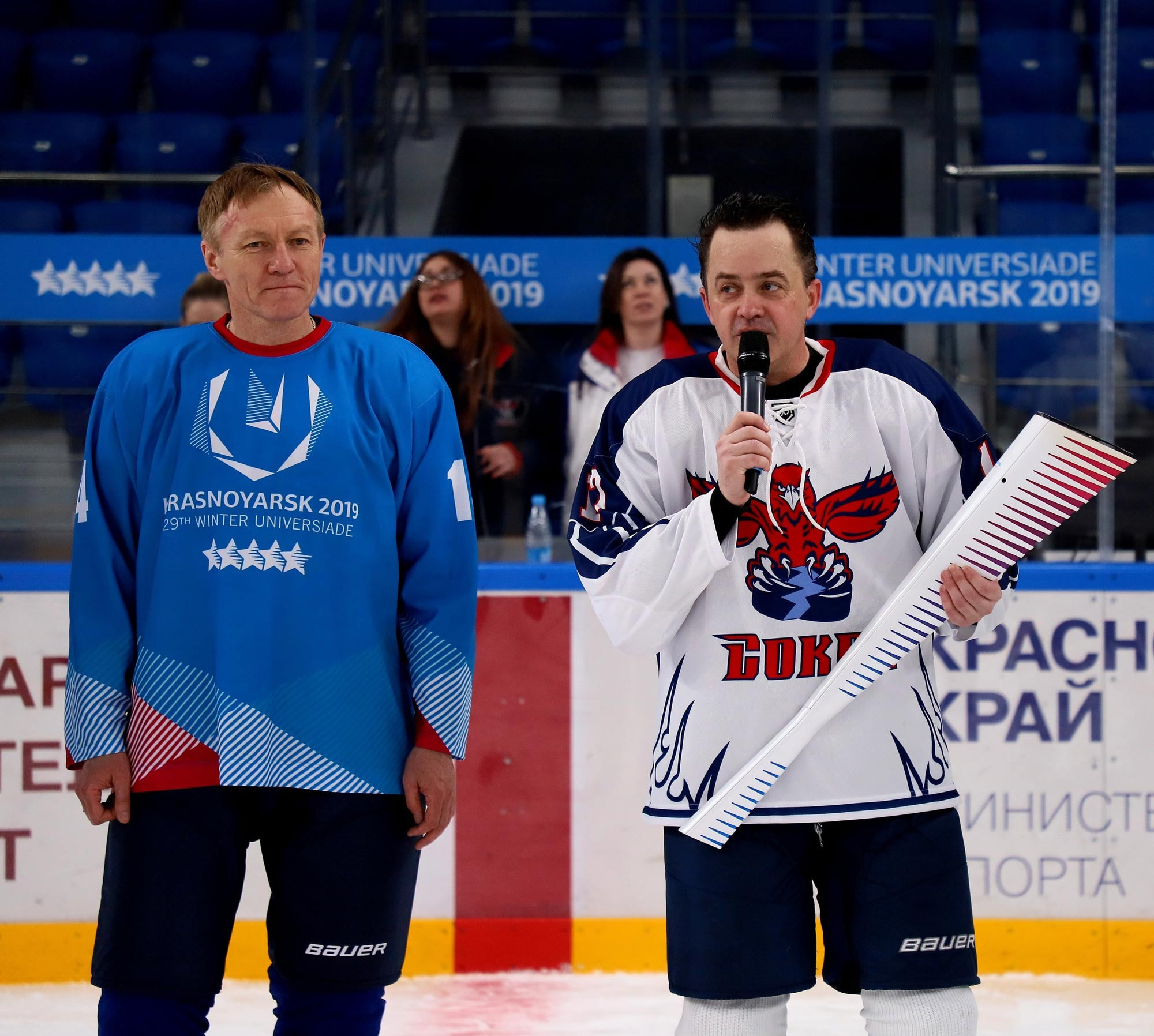 One of the Universiade Flame torches was sent to the ice hockey club Sokol ©FISU