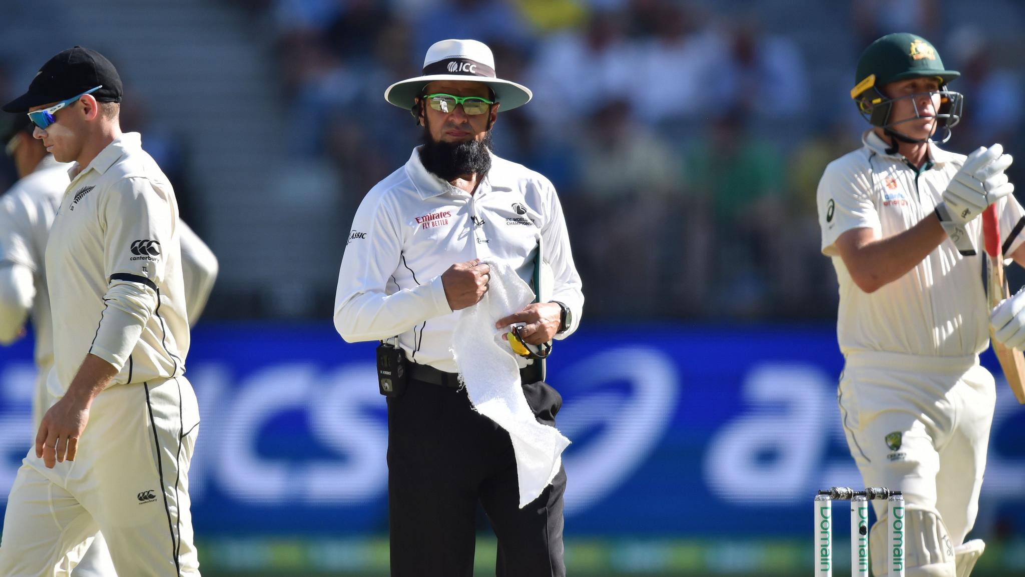 Aleem Dar breaks Steve Bucknor's Test match umpiring record in Perth