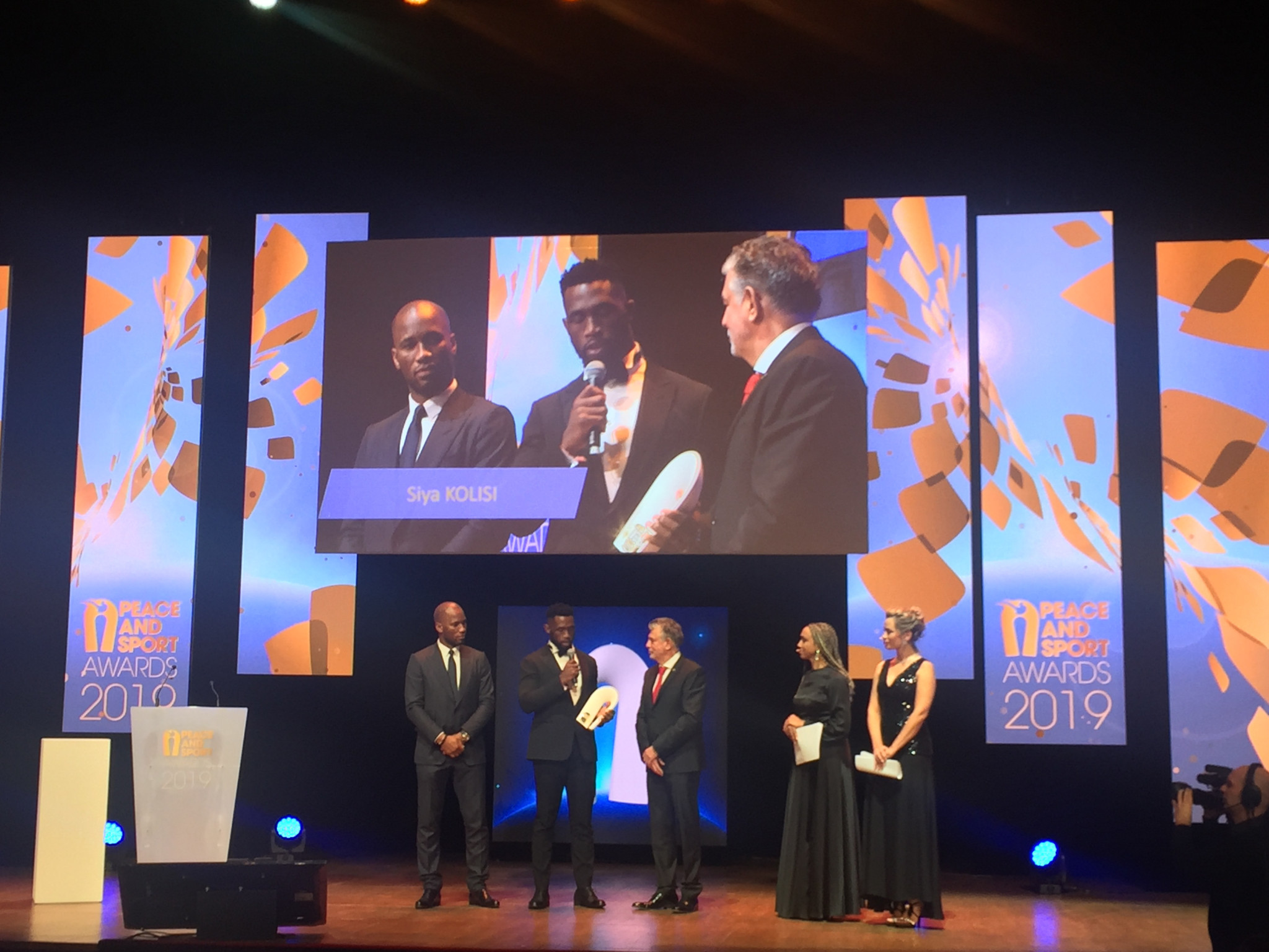 South African Rugby World Cup winner Siya Kolisi was named Champion of the Year ©ITG
