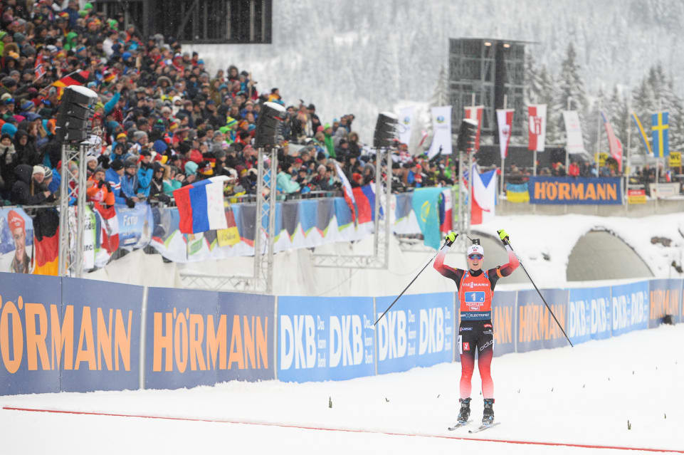 Norway won the 4x6km relay on a successful day for the nation ©IBU