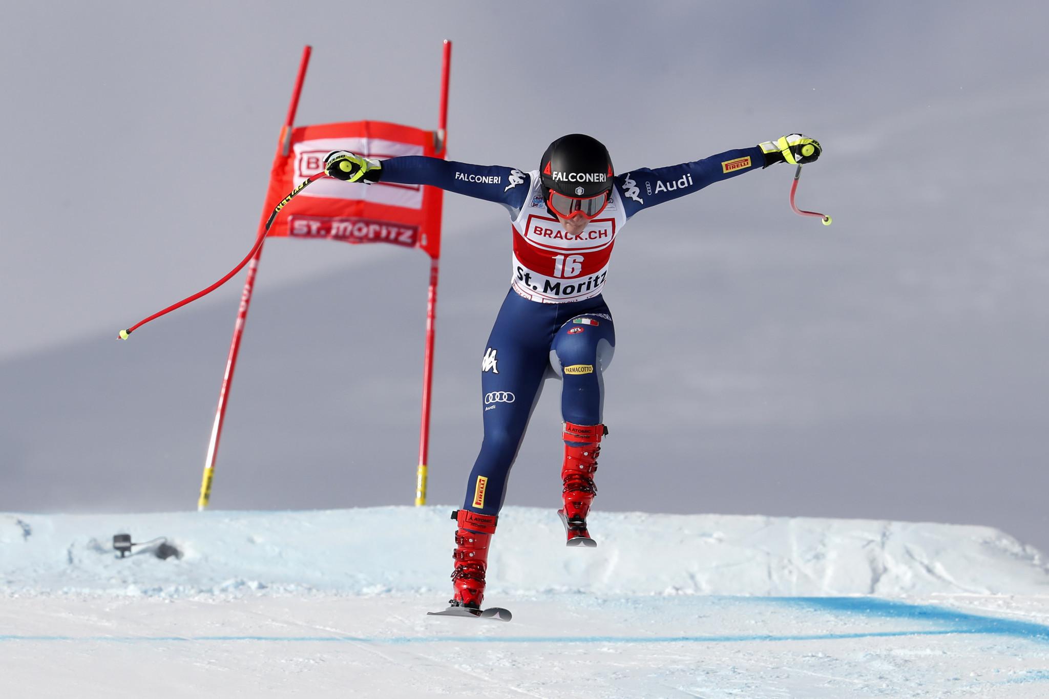 Sofia Goggia triumphed in the women's super-G event ©Getty Images