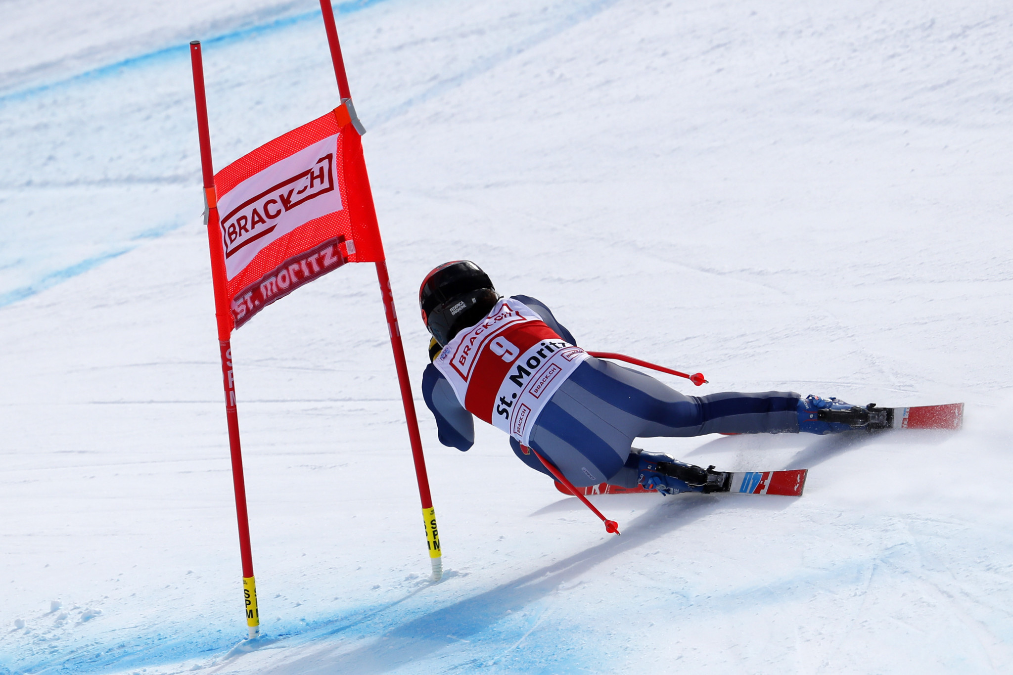 Federica Brignone finished just 0.01 seconds behind the winner ©Getty Images
