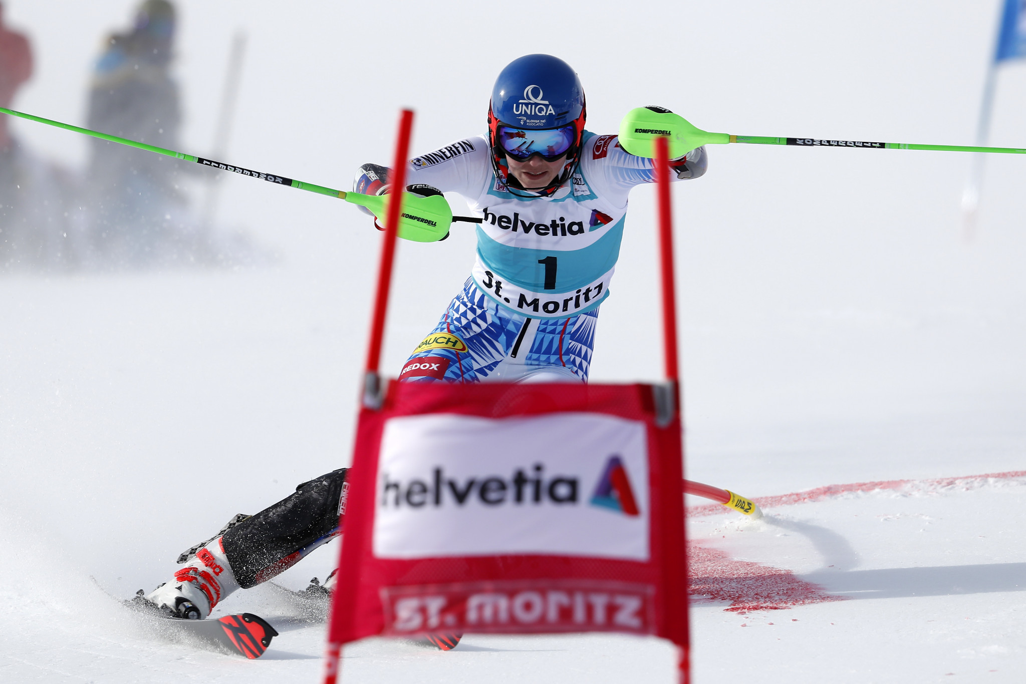 Petra Vlhová won the parallel slalom in St Moritz ©Getty Images