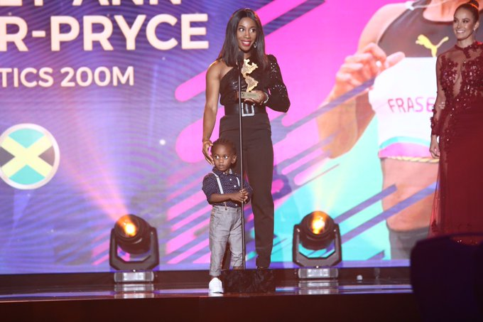 Shelly-Ann Fraser-Pryce was among the star athletes honoured at the Panam Sports Awards ©Panam Sports