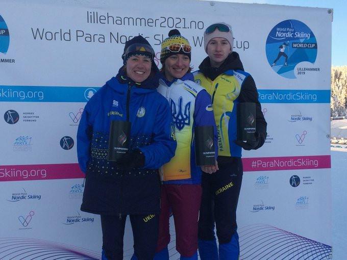 Ukraine achieved a 1-2-3 in the women's standing ©Para Snow Sports