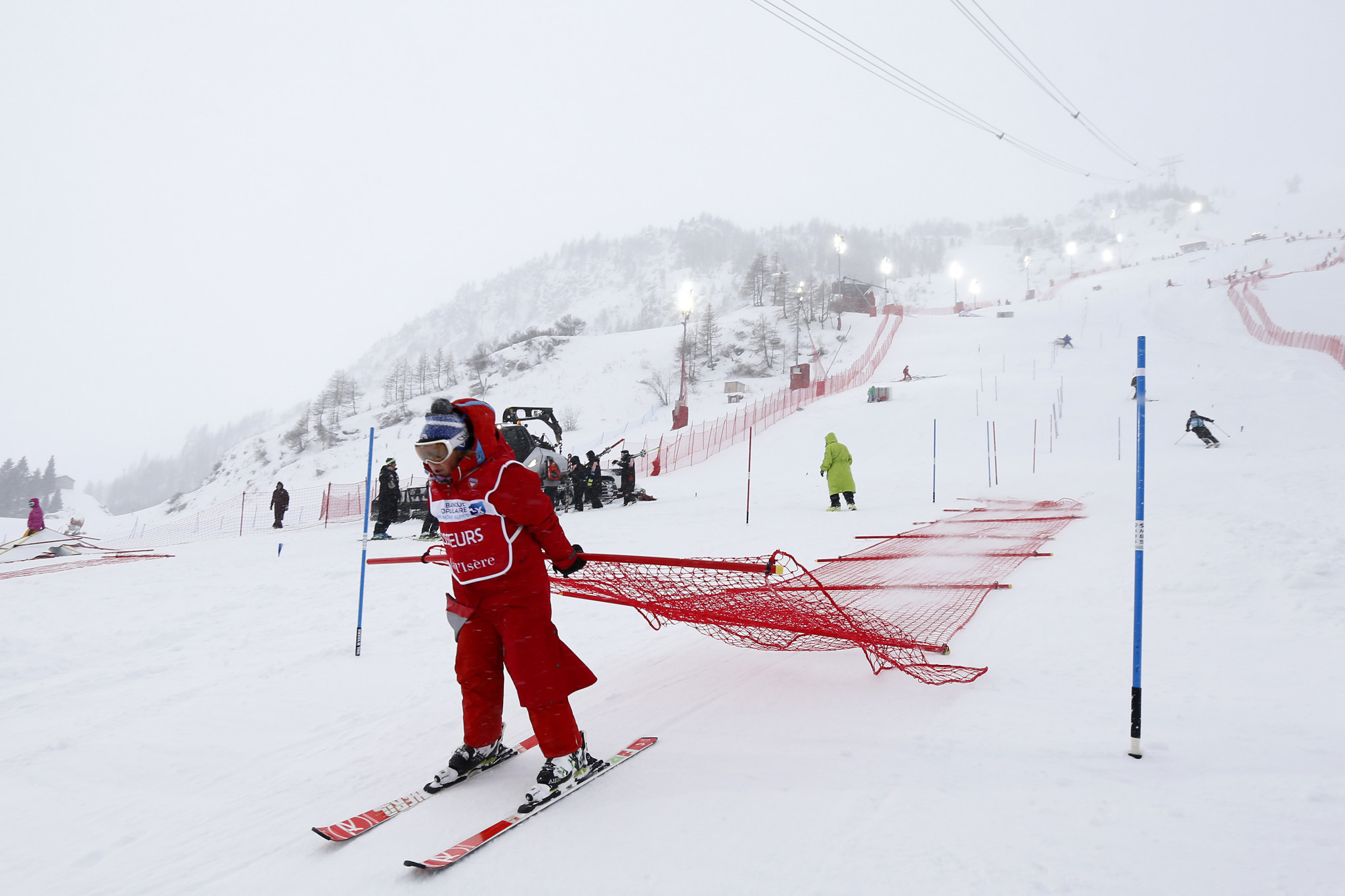 Downhill event at FIS Alpine Ski World Cup in Val d'Isère rescheduled due to heavy snow