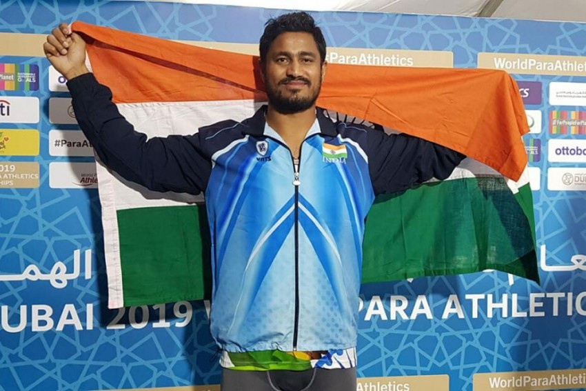 The new association between the Paralympic Committee of India and the Cairn Foundation will extend support to leading athletes like two-time javelin throw world champion Sundar Singh Gurjar ©PCI