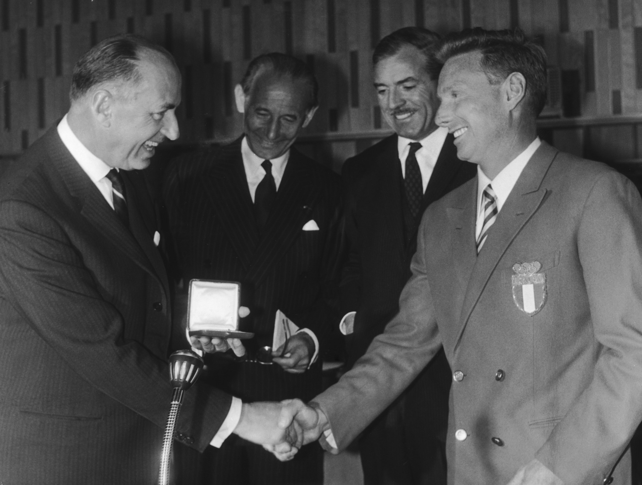 Eugenio Monti was recognised for an act of sportsmanship during the 1964 Winter Olympics in Innsbruck ©Getty Images