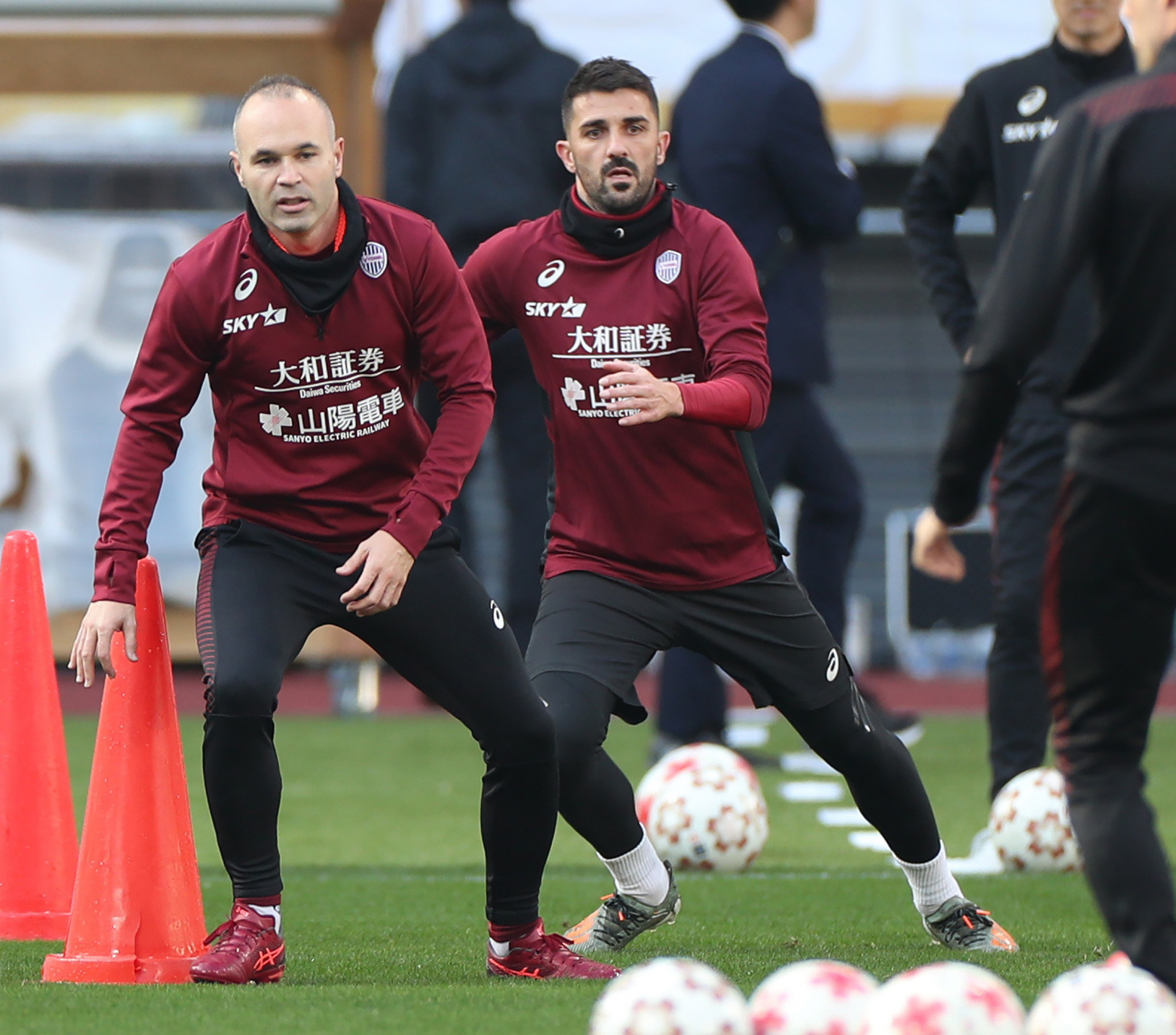 Spanish footballers Andres Iniesta and David Villa are expected to feature in the Emperor's Cup final for Vissel Kobe ©Getty Images