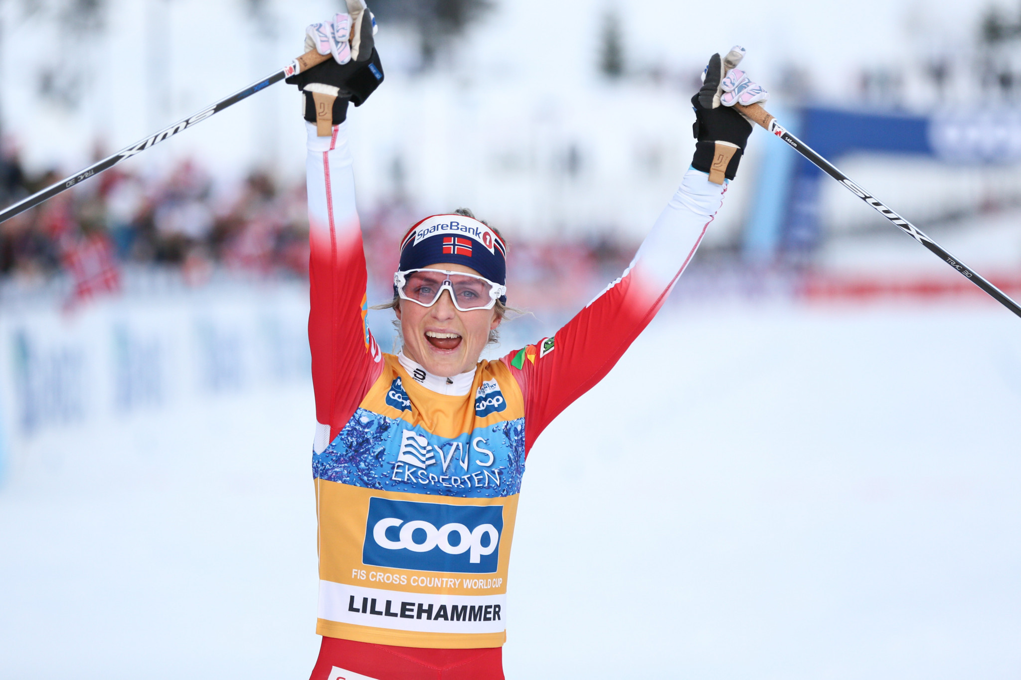 Johaug back on top with victory on third stage of Tour de Ski