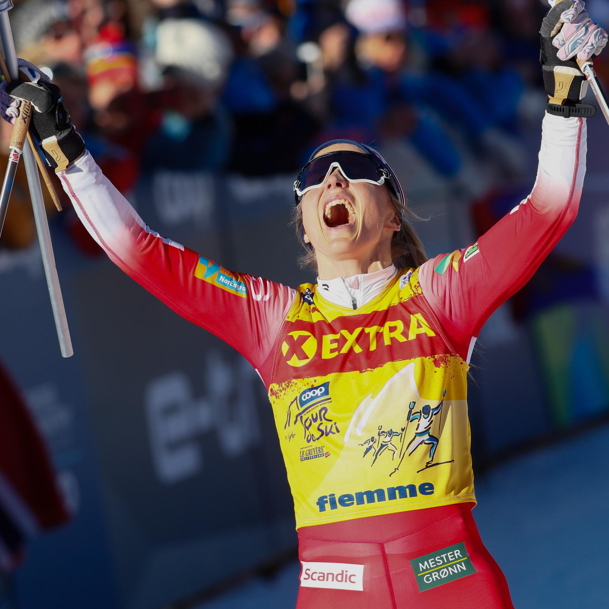 Bolshunov and Johaug win overall Tour de Ski titles as Klæbo's high hopes collapse