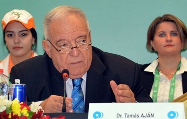 International Weightlifting Federation President Tamás Aján is at the centre of serious allegations regarding corruption and doping in a programme broadcast on German television ©Ashgabat 2018