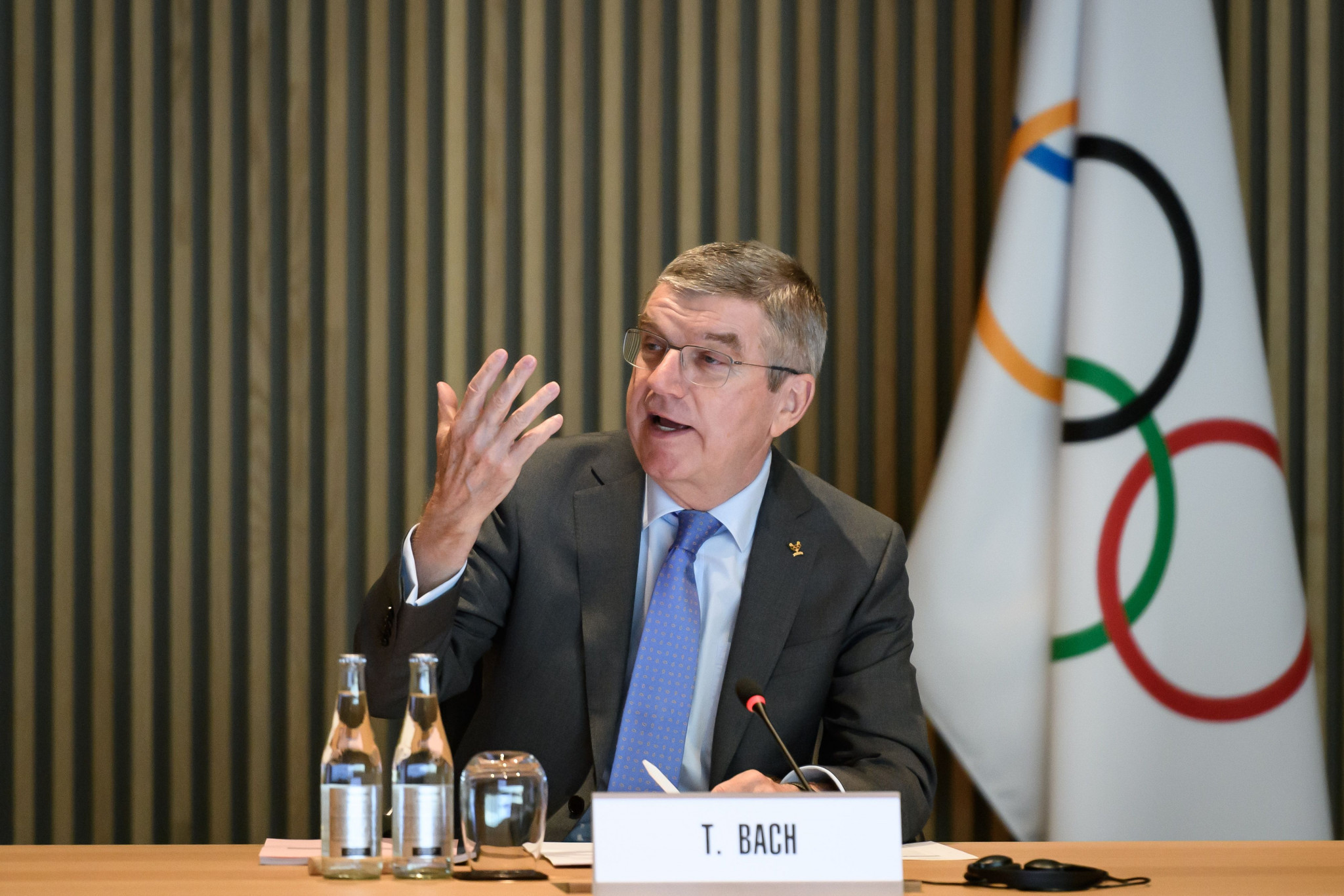 IOC President Thomas Bach welcomed Russia to Lausanne 2020 ©Getty Images