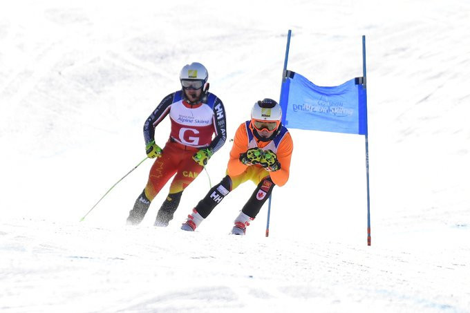 Marcoux and Bauchet complete super-G hat-tricks at World Para Alpine Skiing World Cup in Veysonnaz