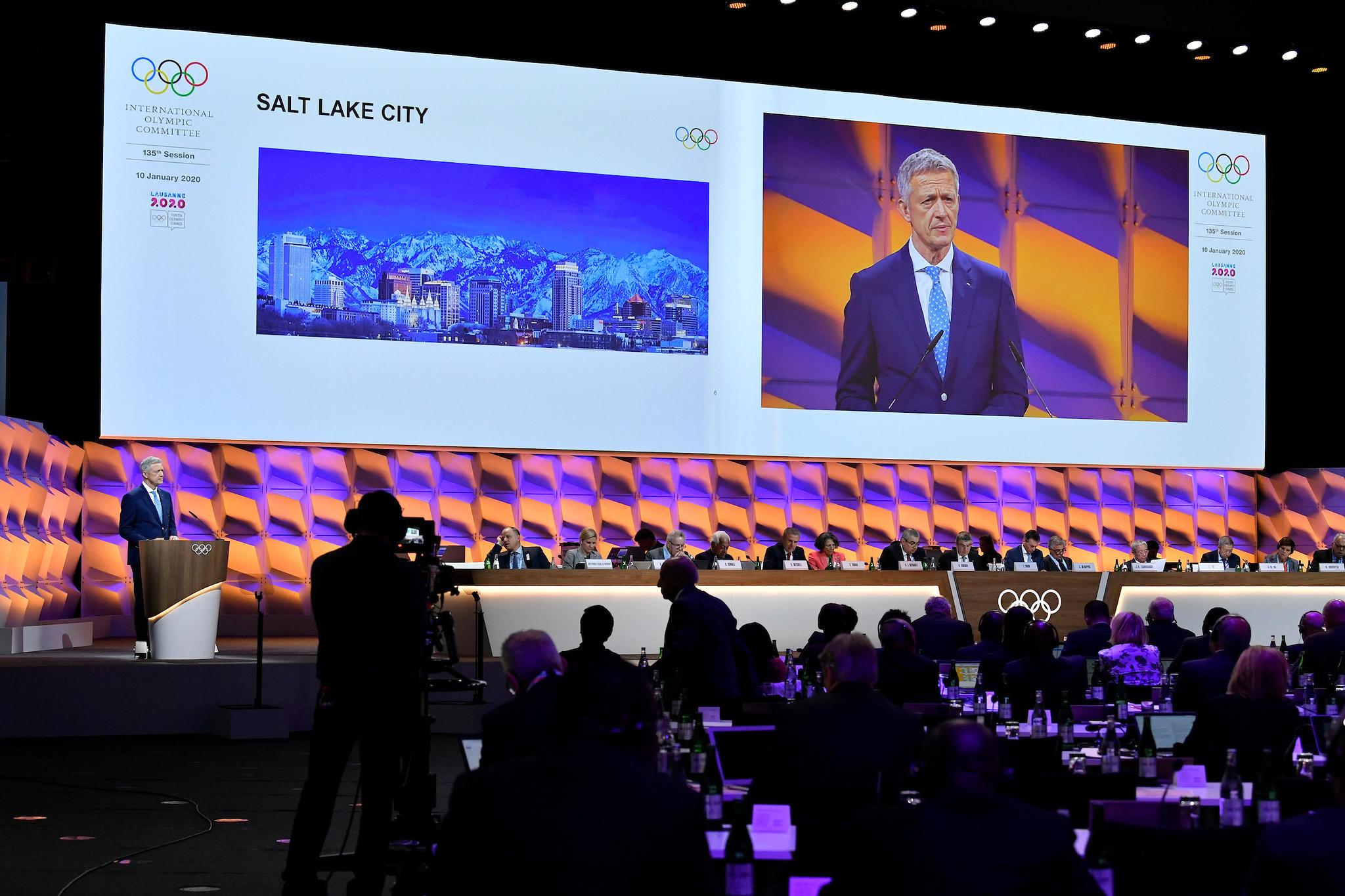 IOC Future Winter Host Commission chairman Octavian Morariu updated the IOC Session on potential Winter Olympic city bidders ©IOC