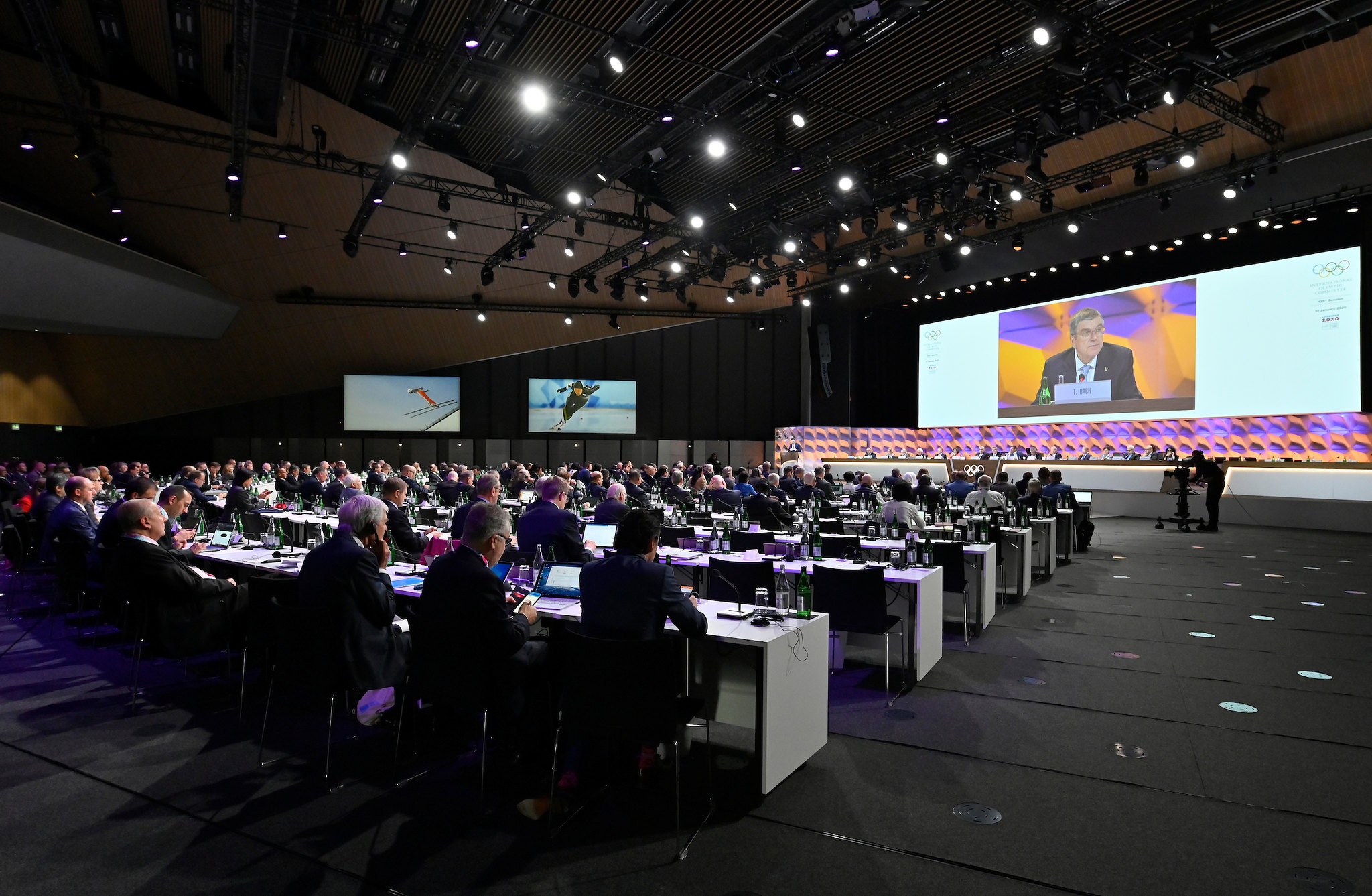 An update from the Future Winter Host Commission was presented to the IOC Session ©IOC