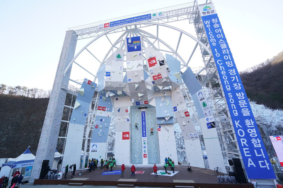 Russians Tolokonina and Tomolov win lead semi-finals at UIAA Ice Climbing World Cup in Cheongsong