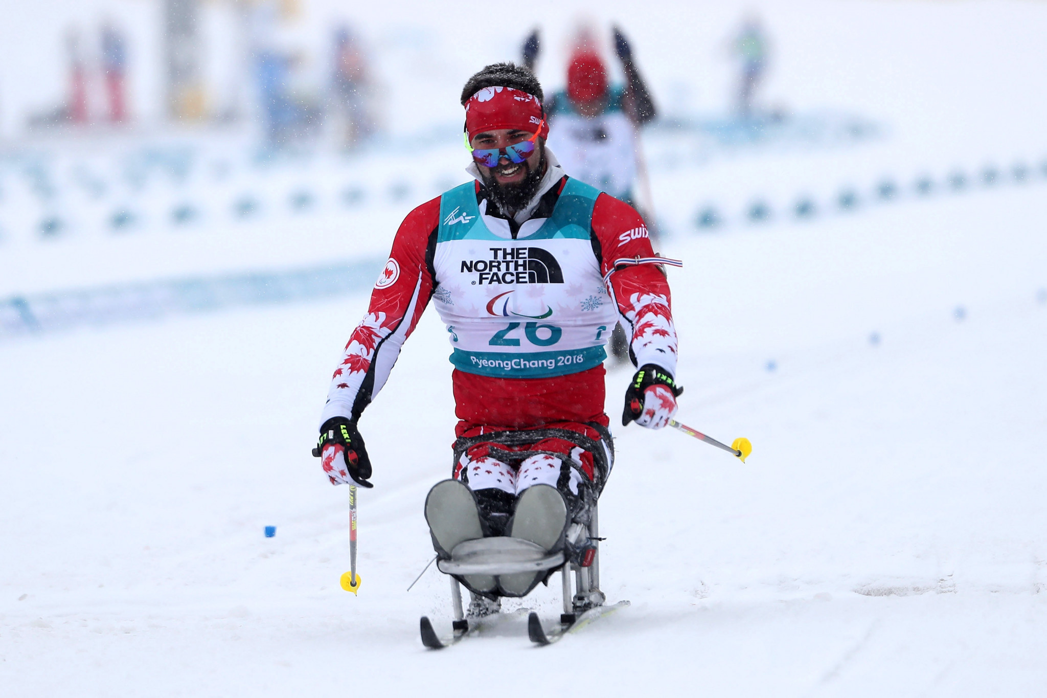 Ivan Golubkov of Russia won his semi-final at the World Para Nordic Skiing World Cup ©Getty Images
