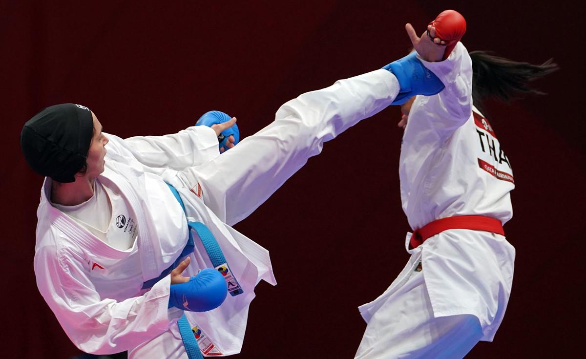 Rozita Aliopourkeshka was one of Iran's five gold medallists ©WKF
