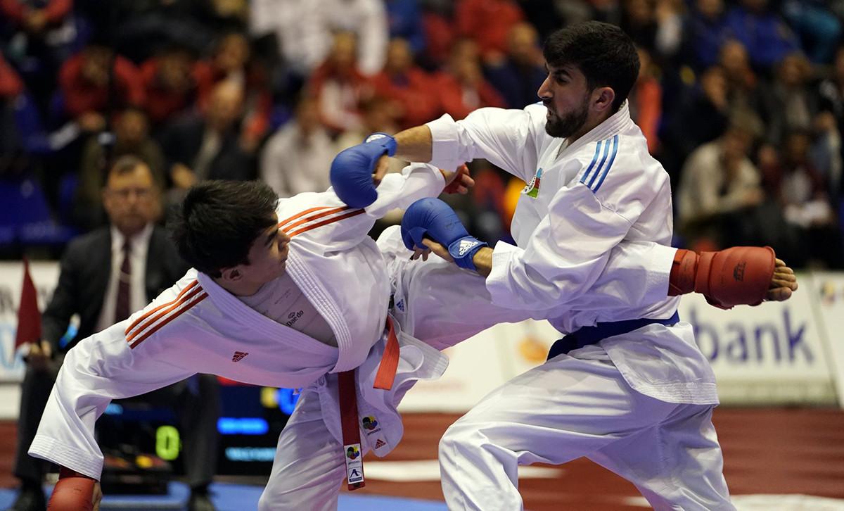 Kaisar Alpysbay of Kazakhstan beat Brazil's two-time world champion Douglas Brose ©WKF