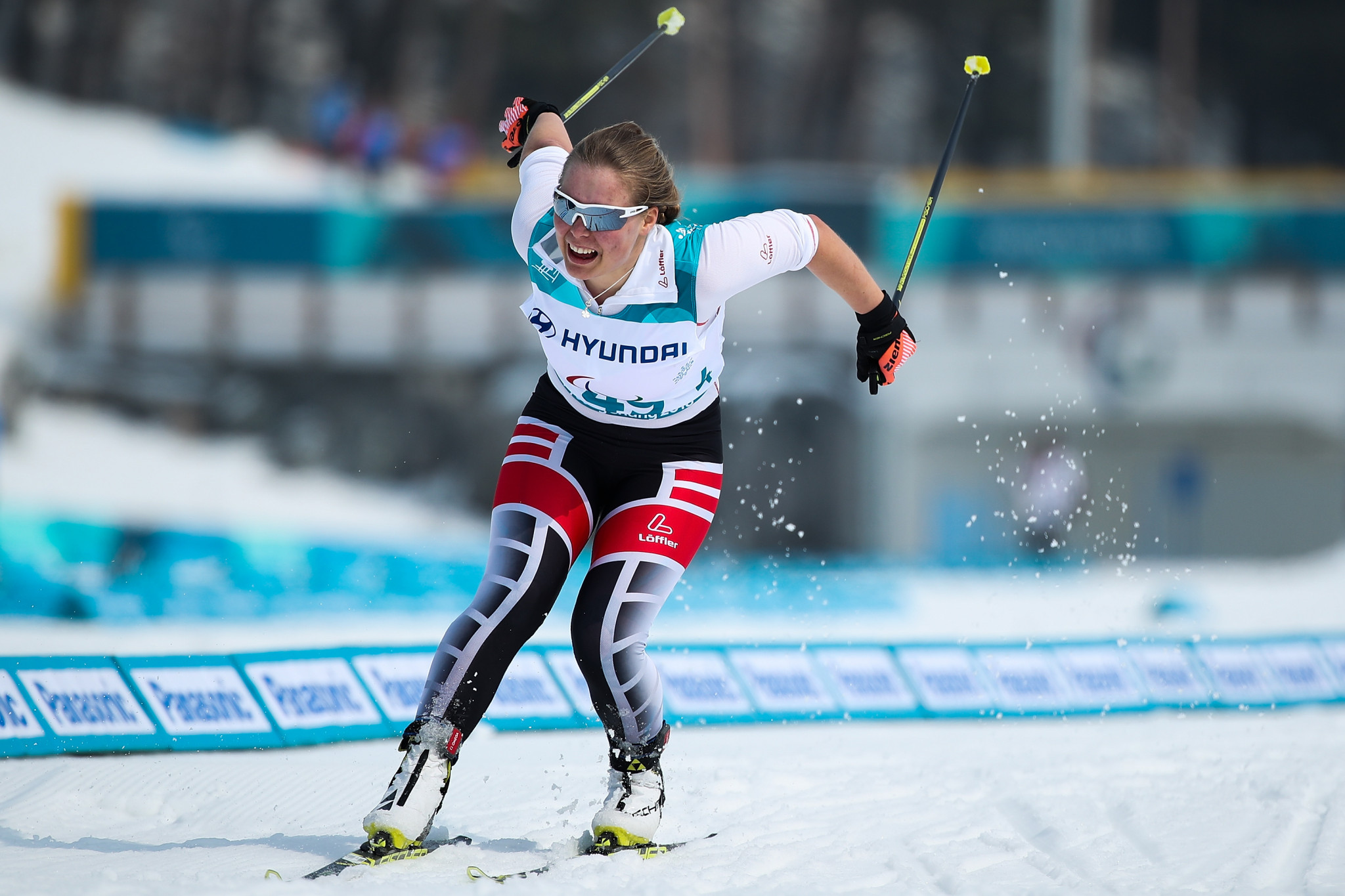 Carina Edlinger won the women's visually impaired final  ©Getty Images