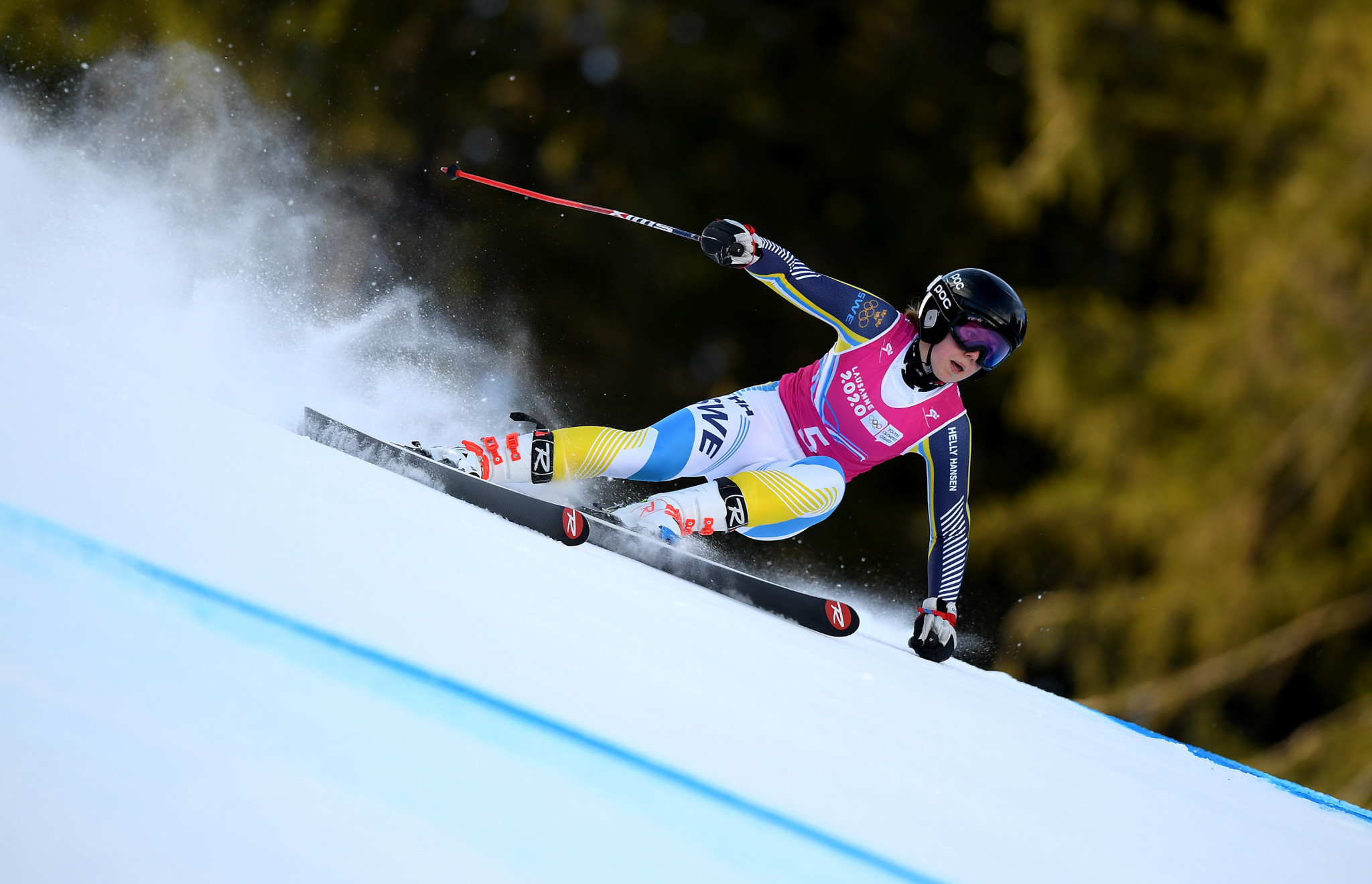 Emma Sahlin triumphed in the women's slalom event ©Getty Images