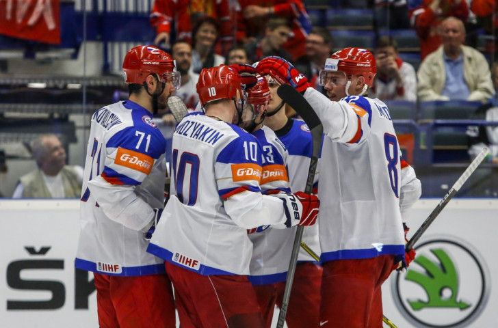 Russia thrashed Belarus 7-0 to return to the summit of Group B  Ice Hockey World Championships ©Getty Images
