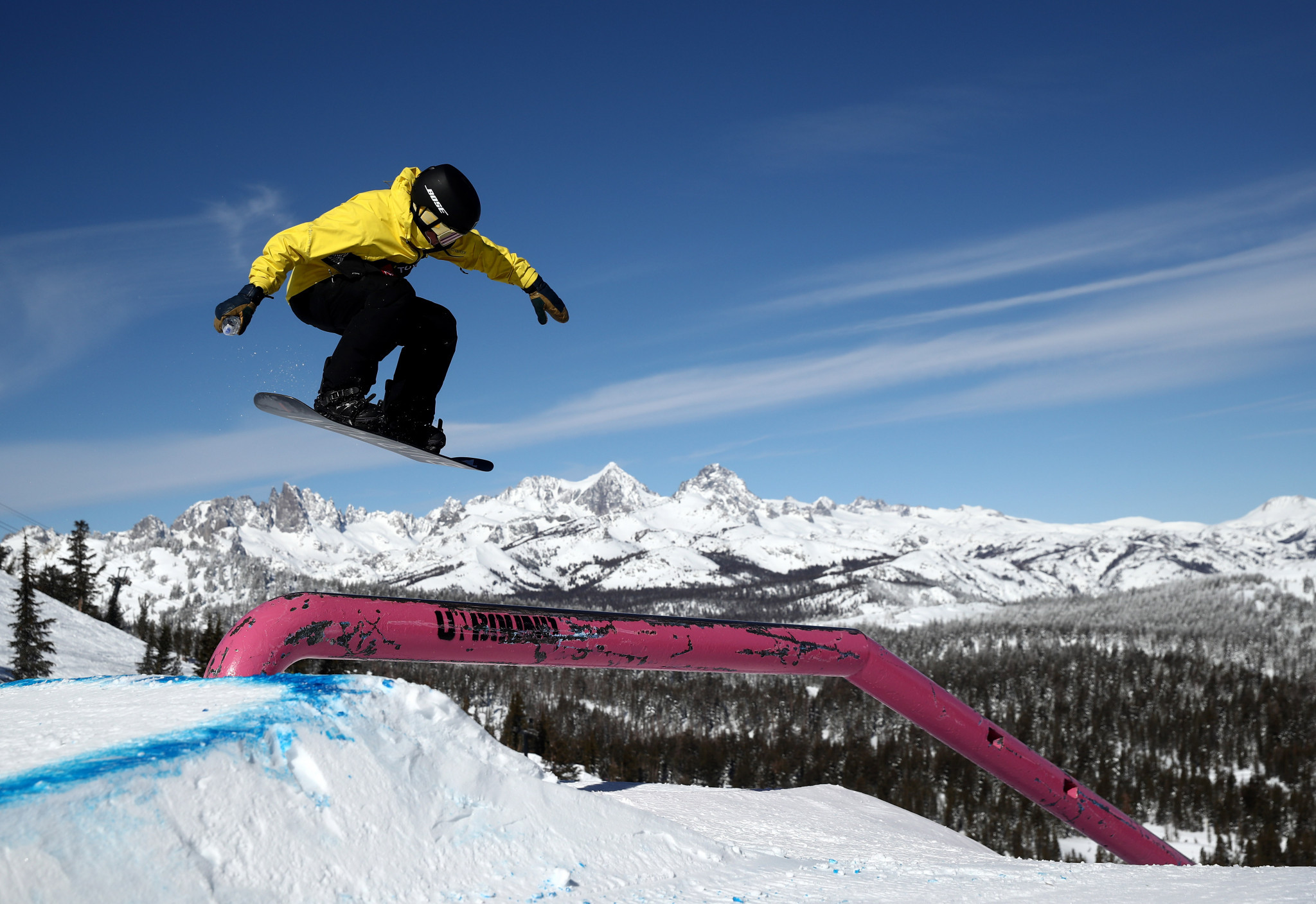 Olympic champion Gerard leads slopestyle qualifiers at Snowboard World Cup in Laax
