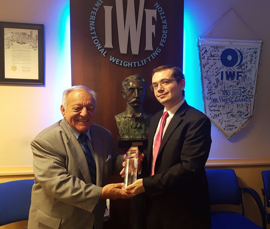 USA Weightlifting chief executive Phil Andrews, right, has led calls for a series of measures to be taken by IWF President Tamás Aján, left, to help restore trust in the sport following the broadcast of the controversial programme ©USA Weightlifting