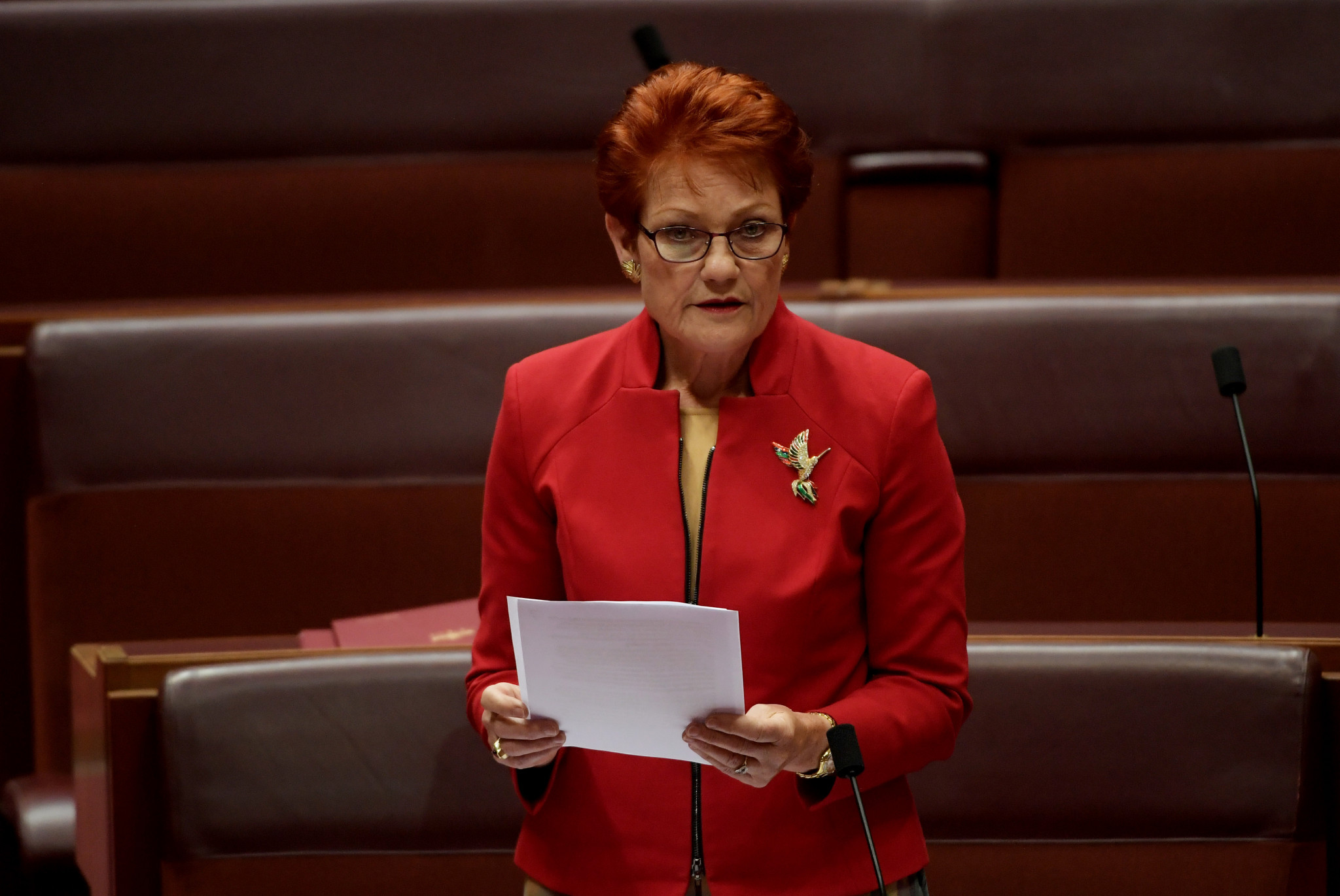 Controversial Australian politician Pauline Hanson has launched a campaign against Queensland's bid for the 2032 Olympic and Paralympic Games ©Getty Images