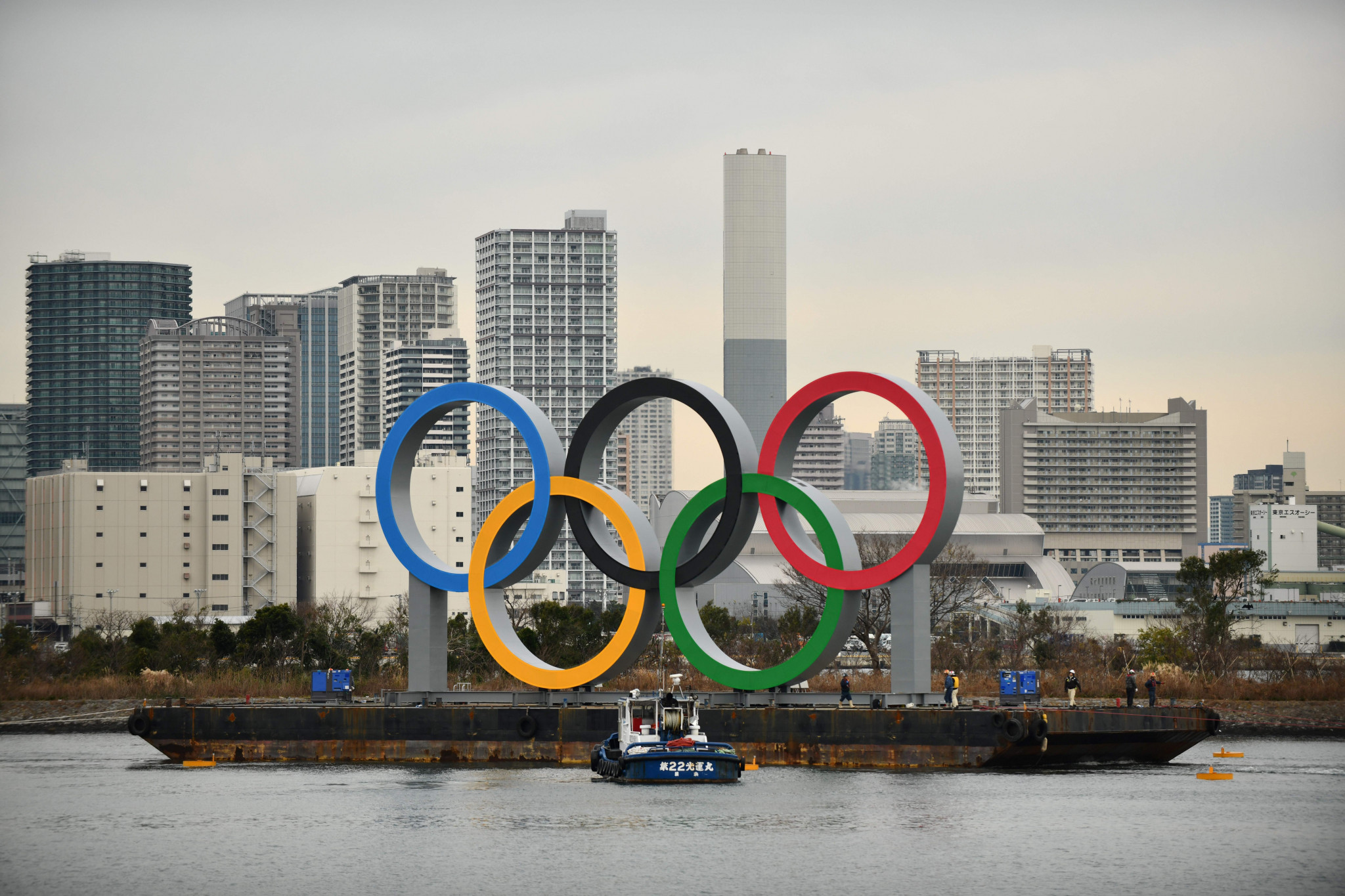 Tokyo Olympic Rings monument temporarily removed for safety inspection