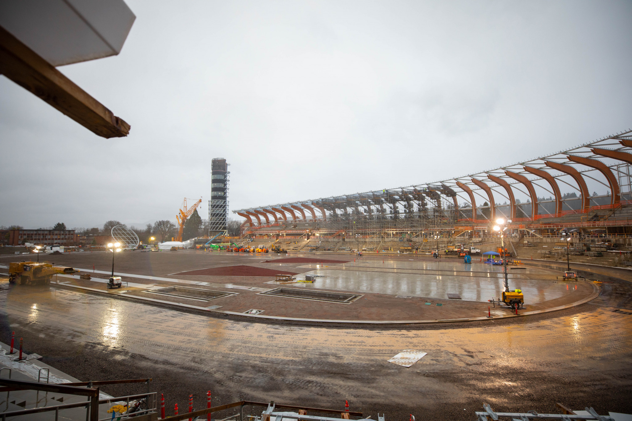 Hayward Field is being rebuilt specifically as an athletics stadium for next year's World Championships in Oregon ©Oregon 2021