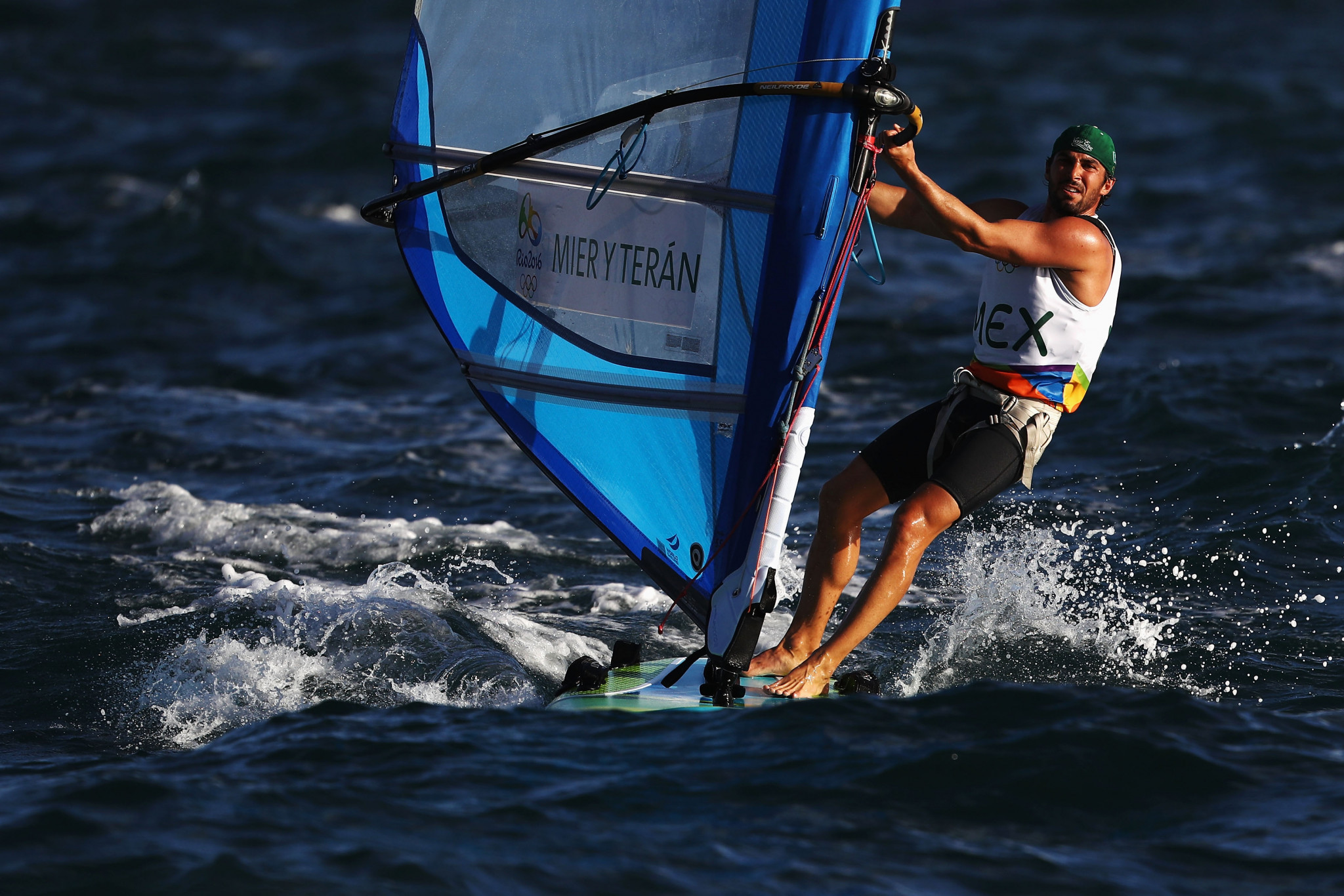 The event is particularly crucial for North Americans such as Mexico's RS:X windsurfer David Mier Y Teran ©Getty Images