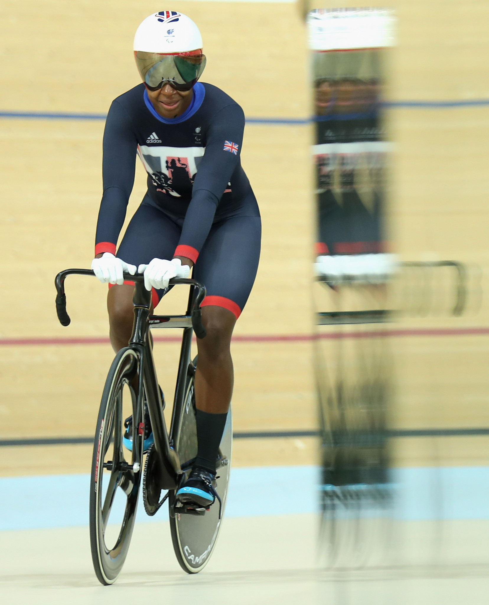 Paralympic gold medallist Kadeena Cox has been named in the British team for the UCI Para-cycling Track World Championships in Milton in Canada later this month ©Getty Images