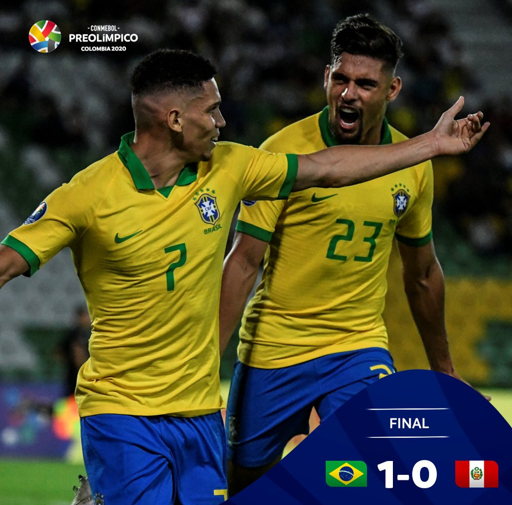 Brazil begin defence of men's Olympic football title with victory over Peru